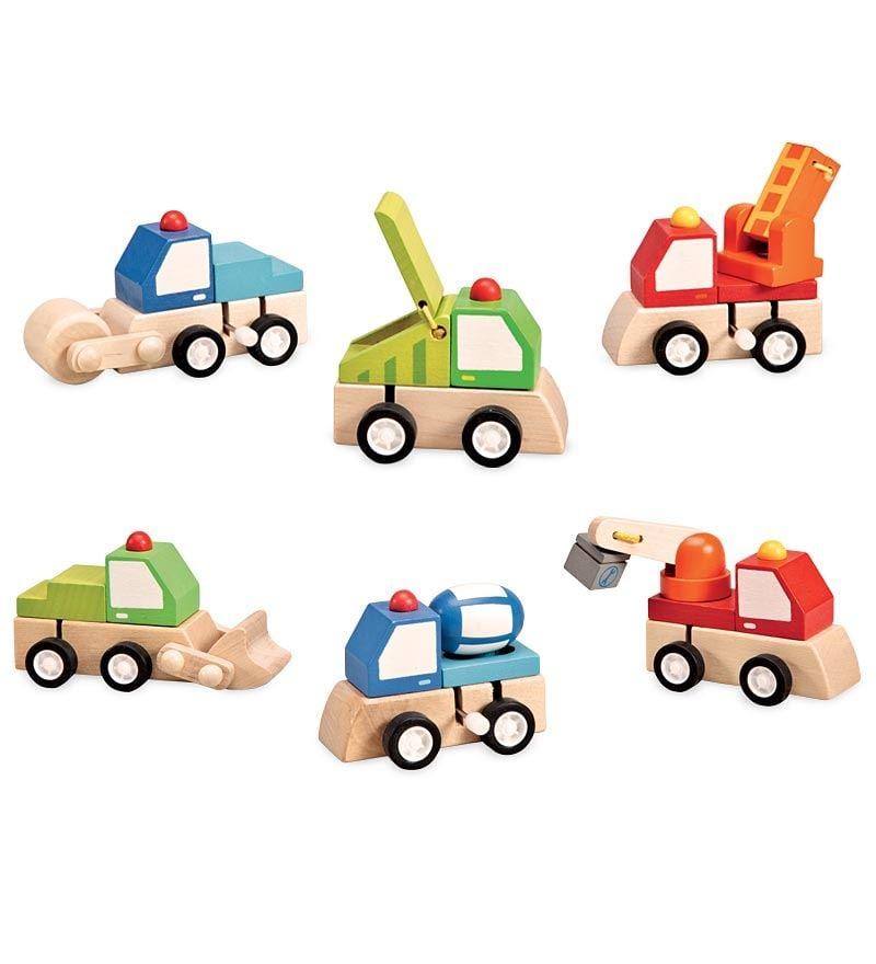 Wooden Wind-Up Trucks