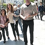 Eric Dane Visits His Hometown For a Store Opening With Rebecca and Billie