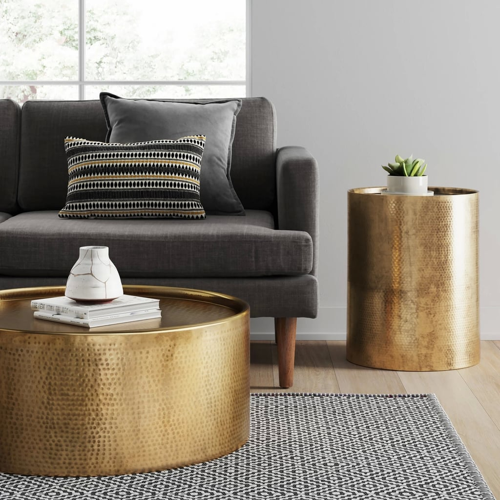 Manila Cylinder Drum Accent Table