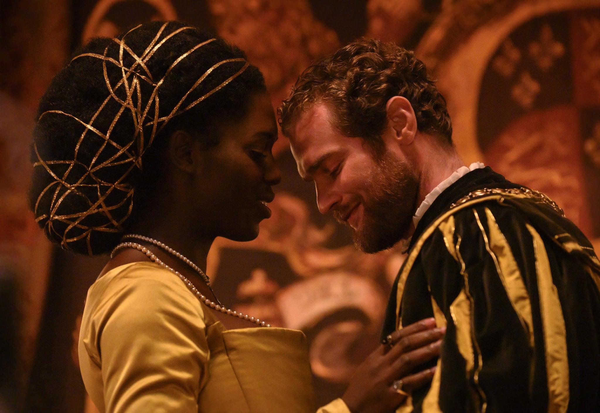 Anne Boleyn: Episode 1 - CAST: Anne Boleyn (Played by Jodie Turner-Smith) and Henry VIII (Played by Mark Stanley)