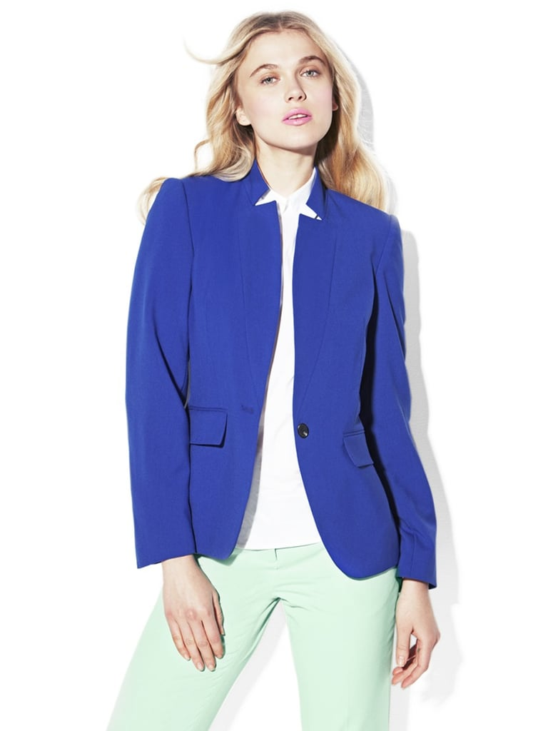 We can't stop admiring the collar on this Vince Camuto inverted notch cobalt blazer ($150).