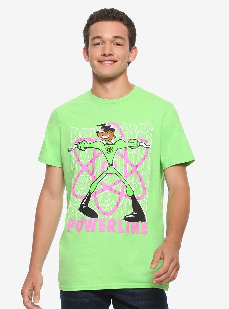 Disney A Goofy Movie Powerline Neon Atom T-Shirt