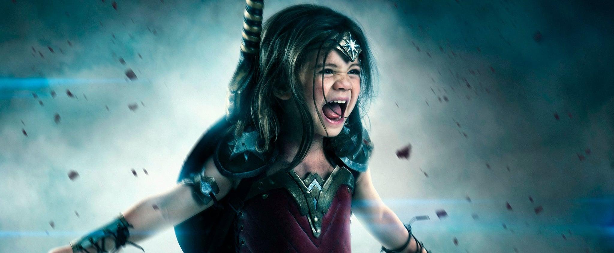 Little Girl Wonder Woman Cosplay