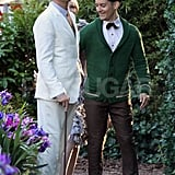 Leonardo DiCaprio, Carey Mulligan, and Tobey Maguire played for a scene in The Great Gatsby.