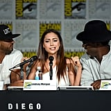 Pictured: Ricky Whittle, Lindsey Morgan, and Isaiah Washington.
