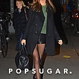 Miranda Kerr toted an oversize bag.