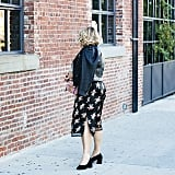 A Leather Jacket, a Slitted Dress, and Close-Toed Shoes