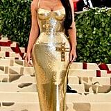 Kim Kardashian at the Met Gala in 2018