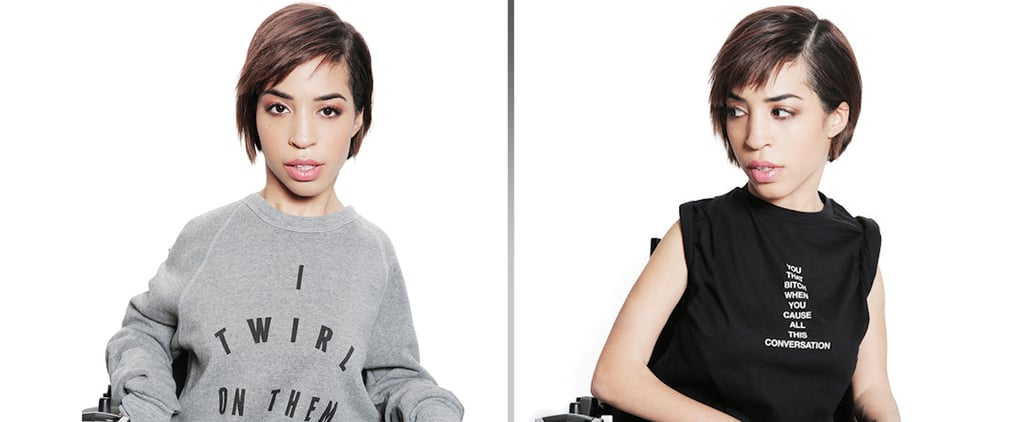 Model in wheelchair models for Beyonce clothing line (Video)