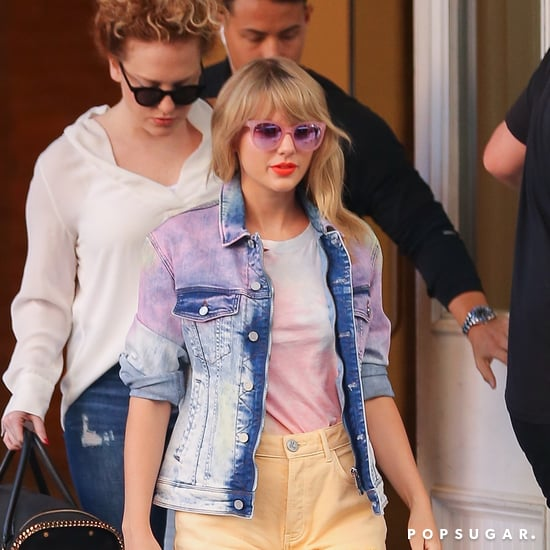 Taylor Swift Wears Tie-Dye Denim Jacket April 2019