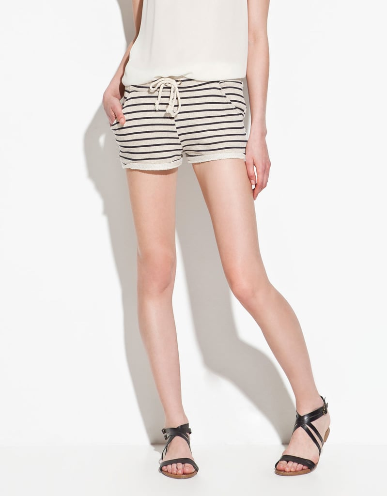 Cozy meets chic with these tie-front nautical-inspired shorts.