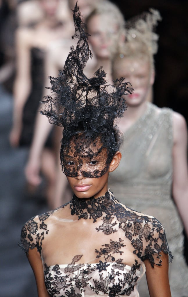 """Valentino Goes """"Radical"""" in Black for Fall 2009 Couture"""