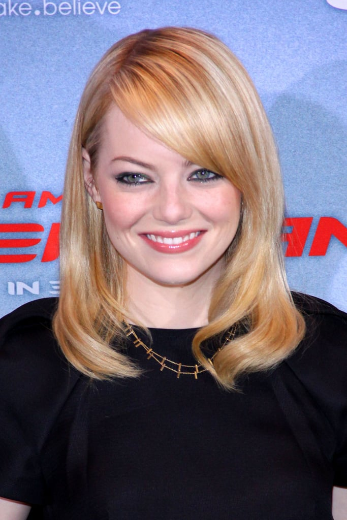 Emma Stone gave a big smile at the Berlin photocall for The Amazing Spider-Man.