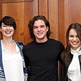 Pretty wild to see these three together, right? Lena Headey joined Kit and Emilia Clarke for a press conference in London in 2012.