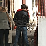 Ed and Jessica Kissing in NYC