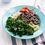 Kale, Black Bean, and Avocado Burrito Bowls
