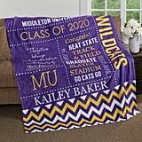 School Memories Personalized Graduation Blanket
