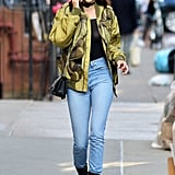 Kendall Opted For Skinny Jeans, Which She Tucked Into Her Boots