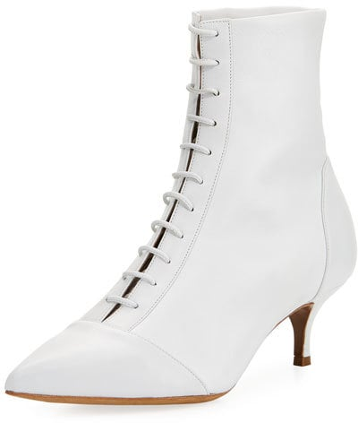Tabitha Simmons Emmet Point-Toe Lace-Up Leather Boot
