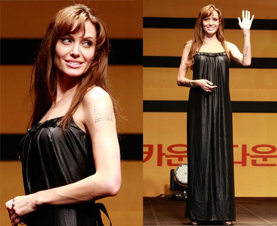 Pictures of Angelina Jolie Promoting Salt in South Korea, Talking About Her Family With Brad Pitt