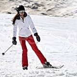Kate Middleton put her skis to work on the mountain on vacation in France.