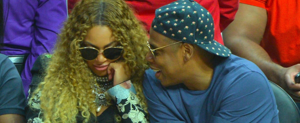 Jay Z Rubs Beyoncé's Pregnant Belly While Courtside For the Clippers