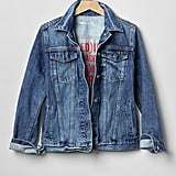 Gap x (Red)™ Denim Jacket ($78)  Who It Benefits: The Global Fund to Fight AIDS with (RED)  How Much Gets Donated: Gap has made a $1 million commitment