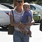January Jones and Xander Jones were spotted in Pasadena.