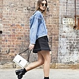 An old-school denim jacket is new again in the right oversize silhouette.