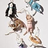 Yoga Cat Christmas Ornament