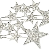 Scunci Silver Star Hair Clips