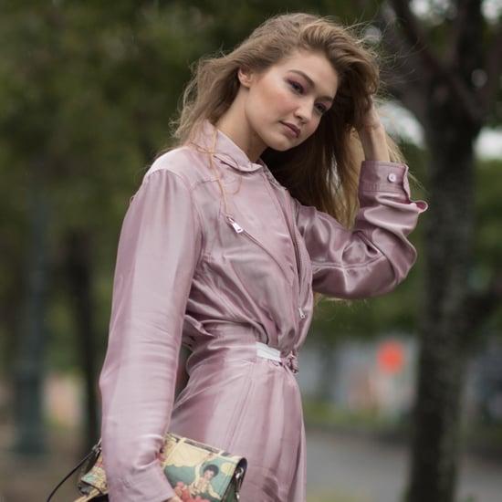 Gigi Hadid Pink Ralph Lauren Jumpsuit at NYFW