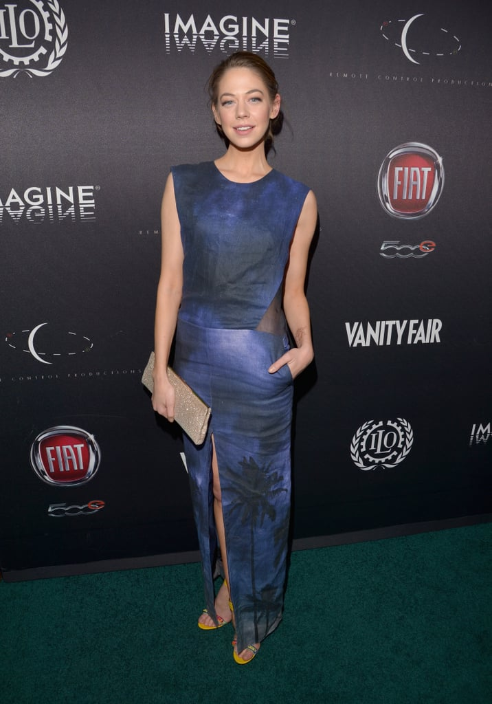 Analeigh Tipton worked her stuff on the green carpet.
