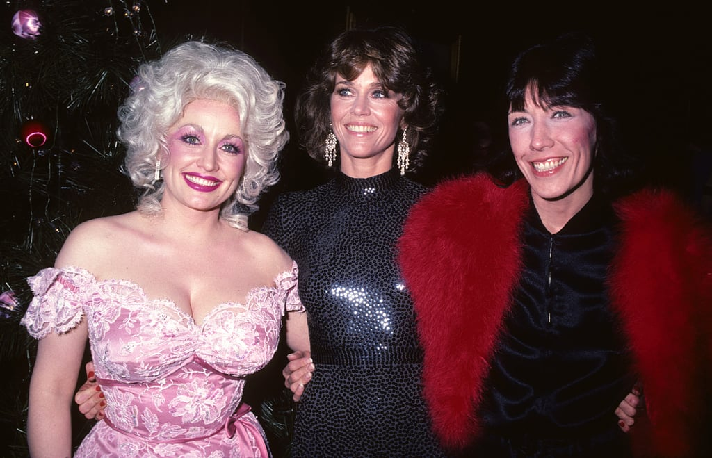 "One of the best moments from this year's Emmy Awards was the reunion between BFFs Jane Fonda, Lily Tomlin, and Dolly Parton. The trio, who starred together in the iconic 1980 comedy 9 to 5, hit the stage to present the award for outstanding supporting actor in a limited series or movie and took a shot at our current president, saying, ""In 1980, we refused to be controlled by a sexist, egotistical, lying, hypocritical bigot boss . . . and in 2017, we still refuse to be controlled by a sexist, egotistical, lying, hypocritical bigot boss.""       Related:                                                                                                           Jane Fonda Is 79 Years Old and on Her Way to Steal Your Man               Needless to say, it was amazing to see these three together again: back in January, Dolly and Jane were supposed to link up to present Lily with a lifetime achievement award at the SAG Awards, but when Jane got sick, Dolly went at it alone (and killed it). These days, Lily and Jane star side by side in the Netflix series Grace and Frankie, which garnered them both Emmy nominations on Sunday night, and Dolly is still gracing the stage on concert tours — but despite their busy schedules, the three are still close friends. We're taking a look back at their cutest moments together over the years."