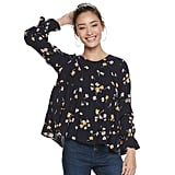 POPSUGAR Tiered-Sleeve Top in Keepsake Floral