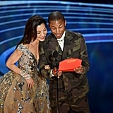 Pictured: Celebrities, Oscars, Pharrell Williams, and Michelle Yeoh
