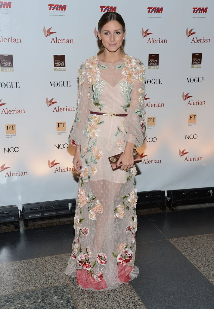 Dreamy Valentino florals for a gala in Sept. 2012.