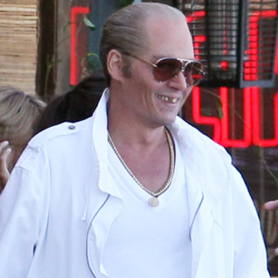 Johnny Depp Balding as Whitey Bulger on Black Mass Set