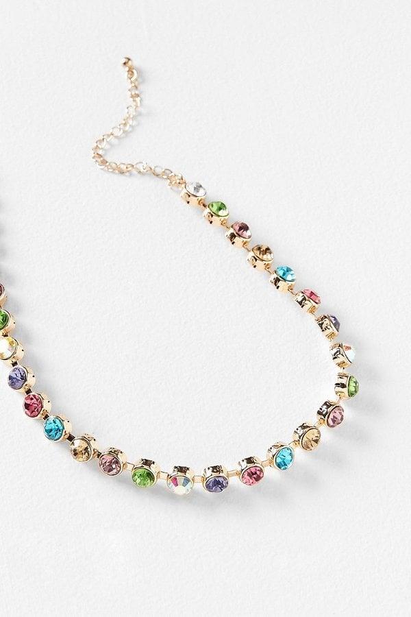 Urban Outfitters Eleni Rhinestone Choker Necklace