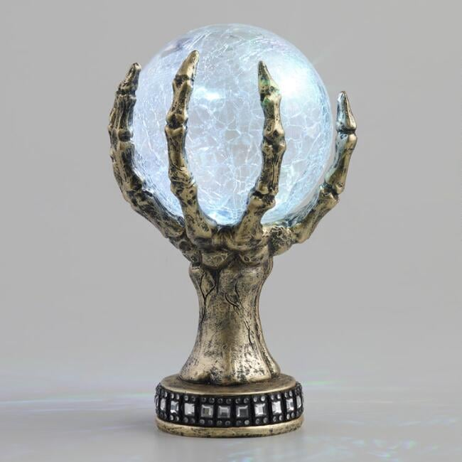 Crystal Ball and Hand LED Light Up Decor