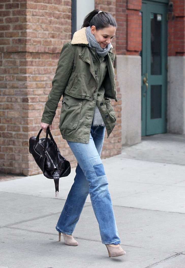 Katie Holmes had lunch in NYC.