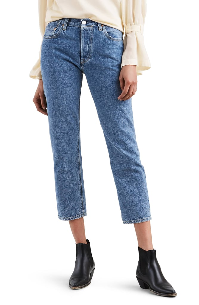 Levi's Made & Crafted 501 High Waist Crop Skinny Jeans