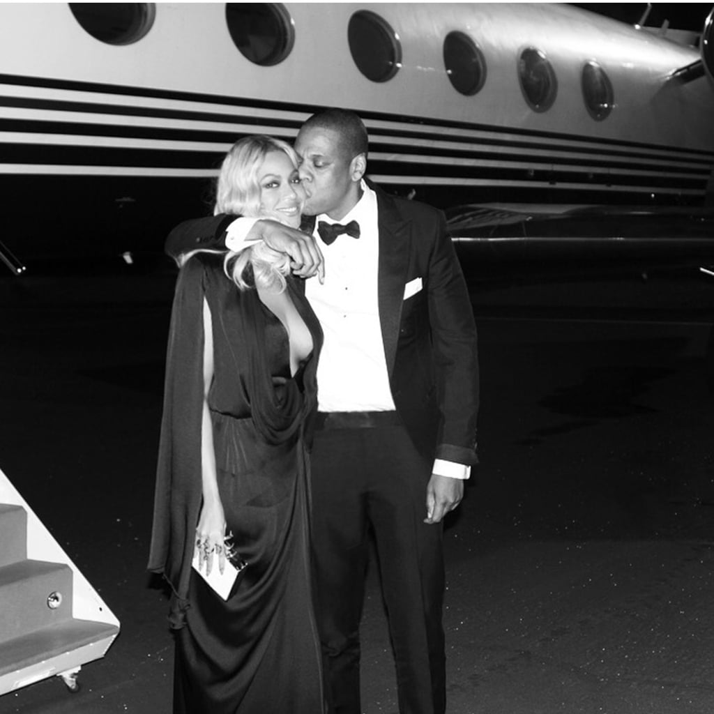 Jay Z planted a kiss on his wife during a night in Las Vegas in November 2015.