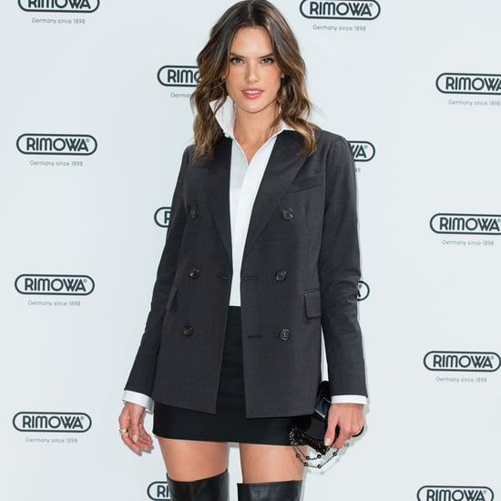 Alessandra Ambrosio and Adriana Lima Wearing Tuxedo Trend