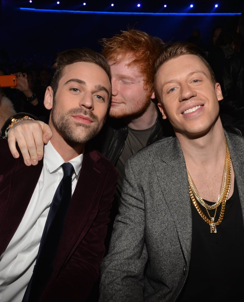 ryan lewis and macklemore | ed sheeran with other celebrities