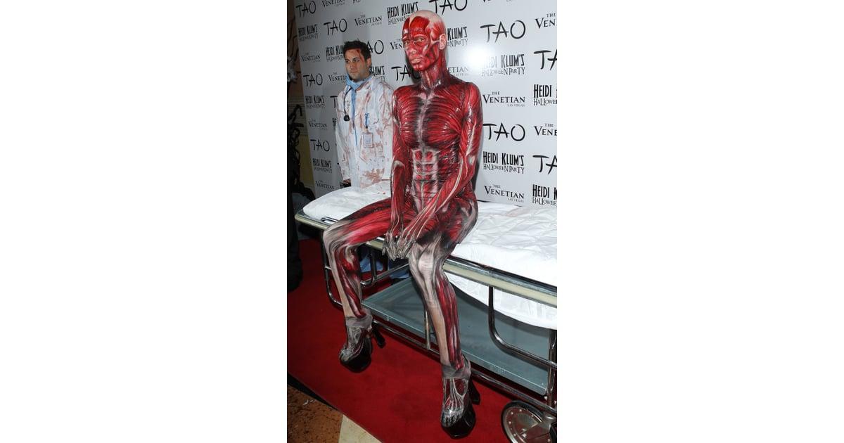 Heidi Klums Bodies Cadaver Halloween Costume 2011 Popsugar Fashion