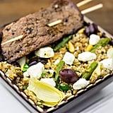 Mediterranean Bulgur Salad with Grilled Flank Steak