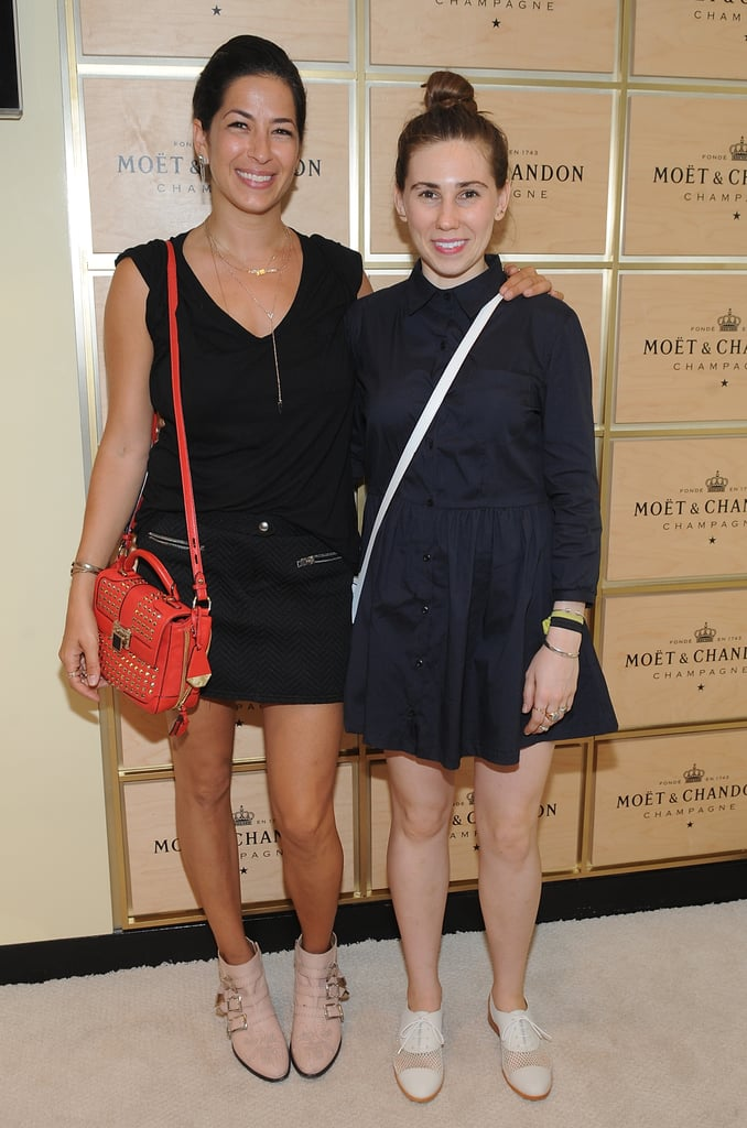 Rebecca Minkoff joined Zosia Mamet for a stop in the Moët & Chandon suite at the US Open.