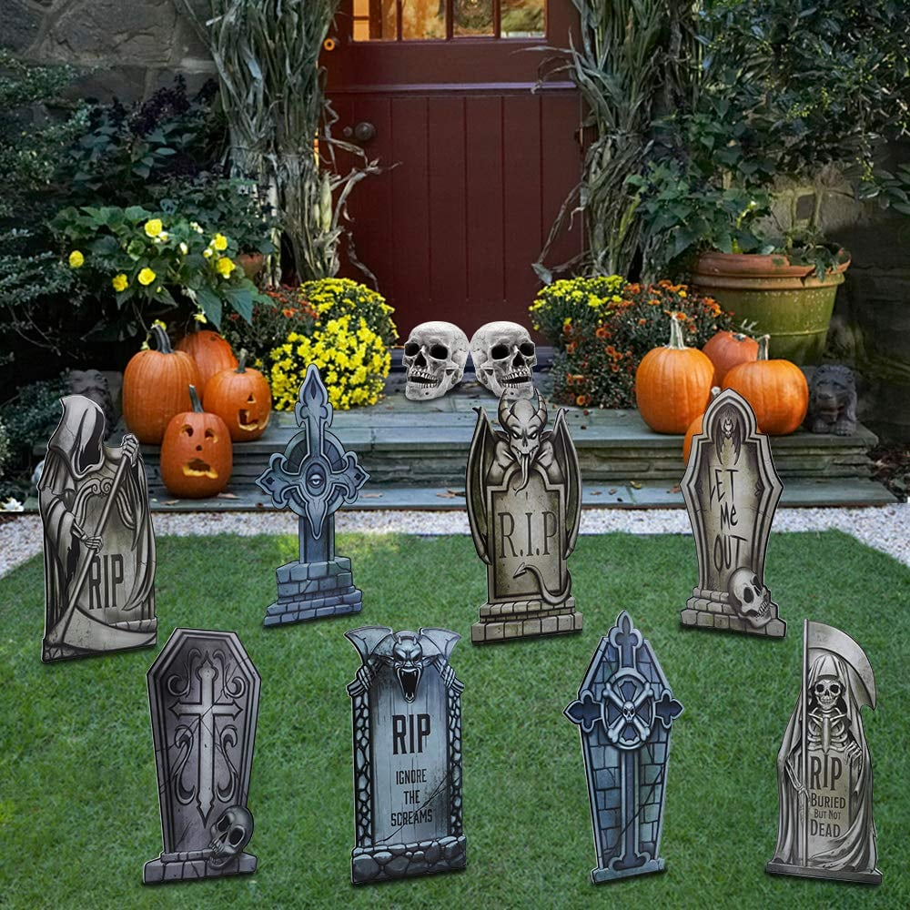 Joyin Halloween Tombstone Yard Decorations | Best Outdoor ... on Backyard Decorations Amazon id=94127