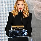 Madonna took the stage.